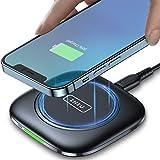INIU Cargador Inalambrico Rápido, 15W Qi Wireless Charger Pad con Indicador Autoadaptativo Base Carga Inalambrica para iPhone 12 11 Pro XS X 8 Plus Samsung S21 S9 S8 Note10 9 AirPods Huawei Xiaomi etc