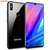 OUKITEL C15 Pro Dual 4G Smartphone Libre de 6.1' 19.5:9 HD+ Water-Drop Pantalla,3GB RAM+32GB ROM,Android 9.0,Quad-Core,2.0GHz Teléfono Movil,Cámara 8MP+5MP+2MP,3200mAh, Face ID (Negro)