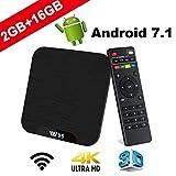 TV Box Android 7.1 - VIDEN W2 Smart TV Box Amlogic Quad Core, 2GB RAM & 16GB ROM, 4K*2K UHD H.265, HDMI, USB*2, WiFi Media Player, Android Set-Top Box