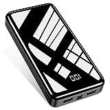 Bextoo Power Bank 30000mAh Cargador Portátil de gran Capacidad, Batería Externa con 2 Puertos de Entrada y Salida USB Paquete de Batería de carga Rápida USB-C para Smartphone Samsung Huawei y más
