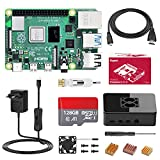 Bqeel Raspberry Pi 4 Model B 【4GB RAM+128GB SD Card 】con 4K,BT 5.0,WiFi 2.4G/5G/1000M Ethernet,2*USB 3.0/USB 2.0,USB-C Adaptador de Corriente con Interruptor