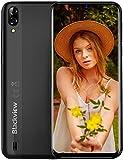 Blackview A60 Smartphone Dual SIM con Pantalla 6.1' (15.7cm) Water-Drop Screen, 13MP+2MP+5MP, 16GB ROM (SD 128GB), 4080mAh Batería Smartphone Libre, Android 8.1 Telefono Movil Barato, GPS/WiFi-Negro