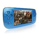 CXYP Consola de Juegos Portátil, 3000 Juegos Retro 4.3 Pulgadas 16 GB Consolas de Videojuegos Portátiles con Cámara Nueva Versión (Azul)